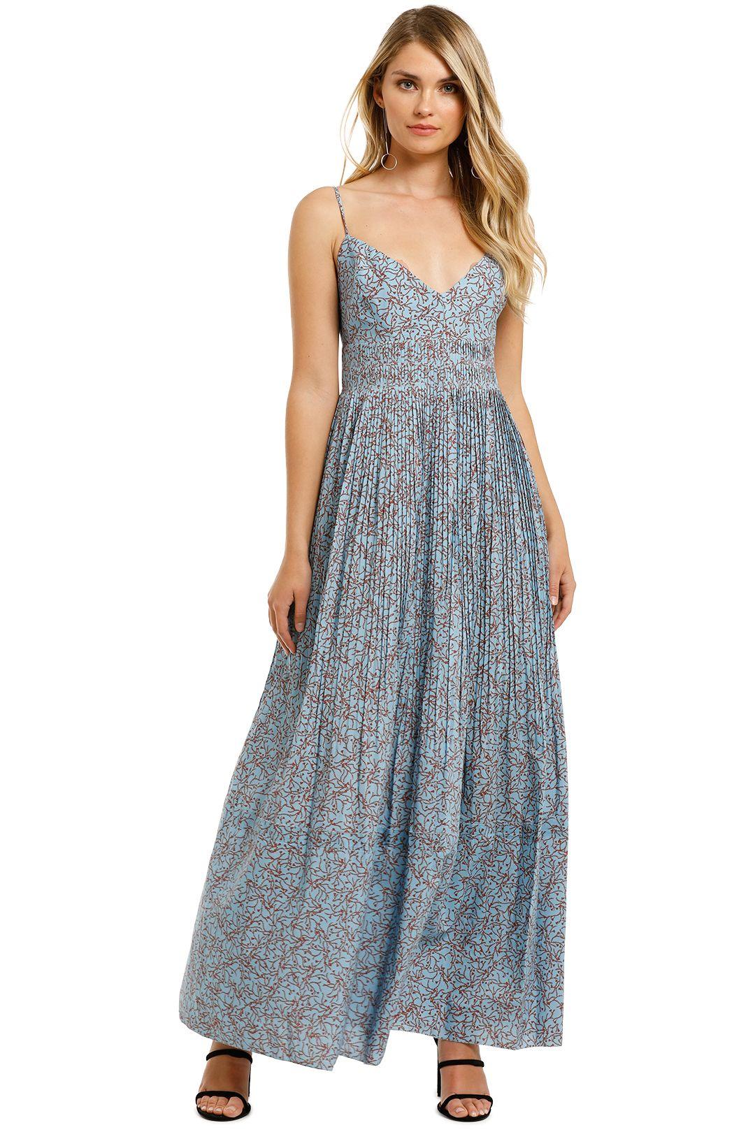 Nicholas-Susan-Dress-Slate-Blue-Floral-Front