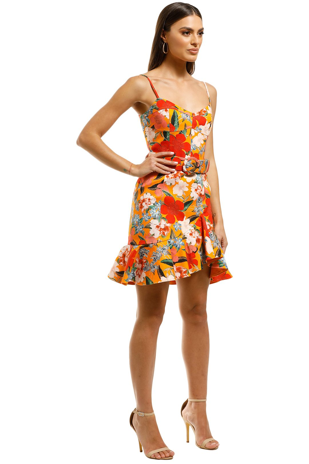 Nicholas-The-Label-Arielle-Fill-Dress-Tangarine-Side