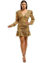 Nicholas-The-Label-Gathered-Frill-Dress-Cheetah-Front
