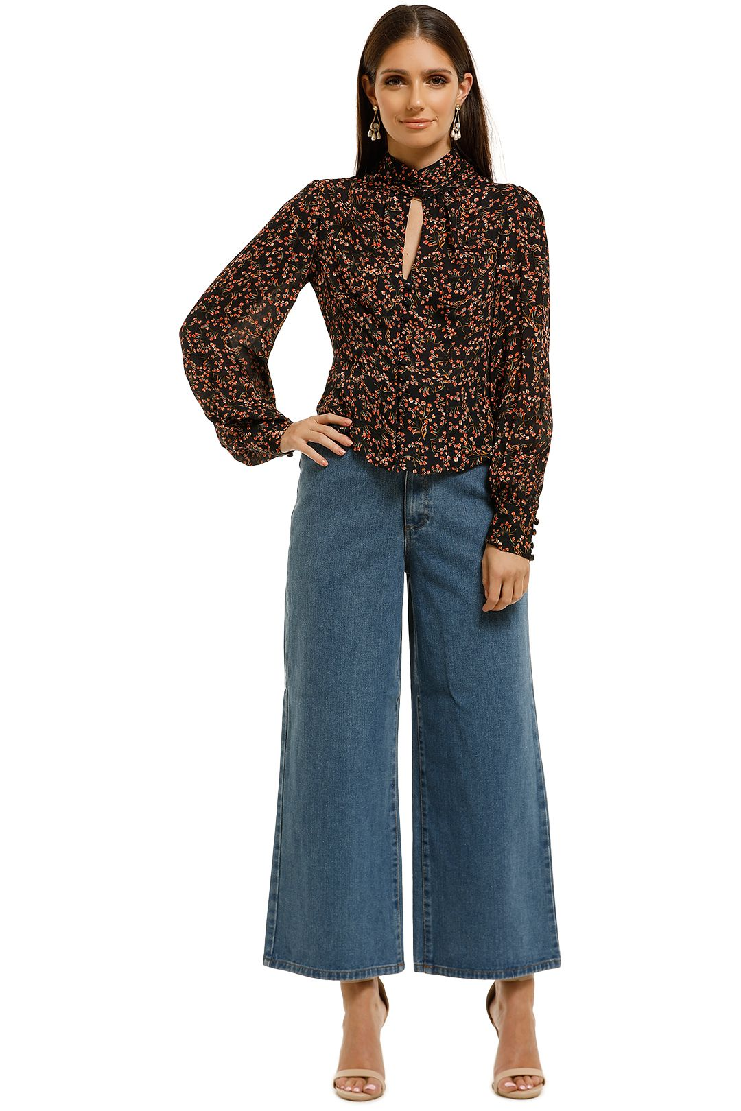 Nicholas-the-Label-High-Neck-Top-Persimmon-Multi-Front
