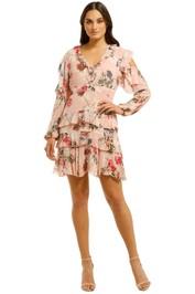 Nicholas-The-Label-Lilac-Floral-Frill-Mini-Dress-Print-Front