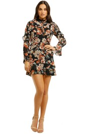 Nicholas-The-Label-Lola-Ruffle-Layered-Mini-Dress-Black-Floral-Front