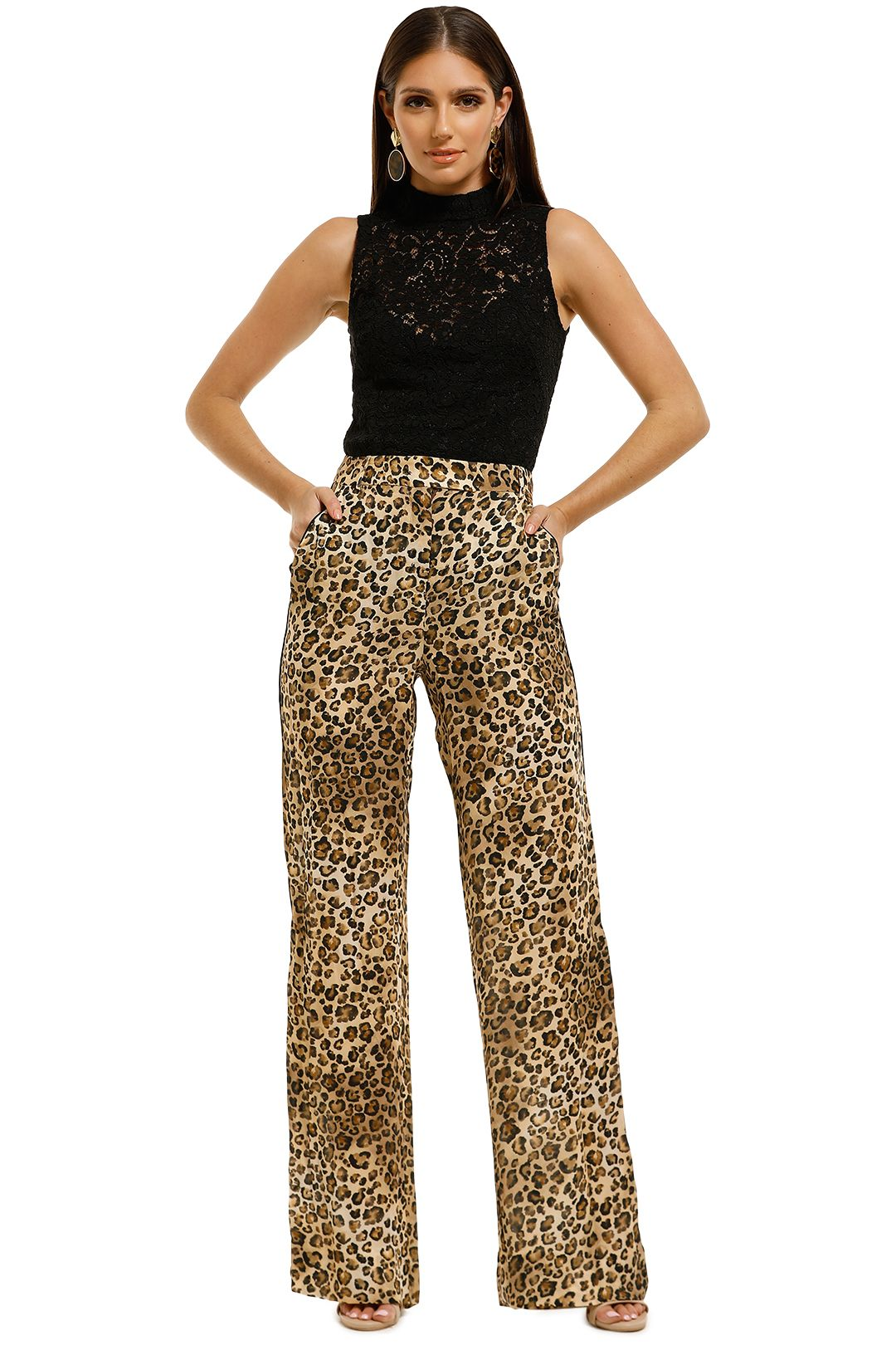 Nicholas-The-Label-Palazzo-Pant-Wheat-Multi-Front