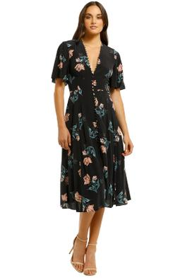 Nicholas-The-Label-Piper-Floral-Button-Midi-Dress-Black-Floral-Front