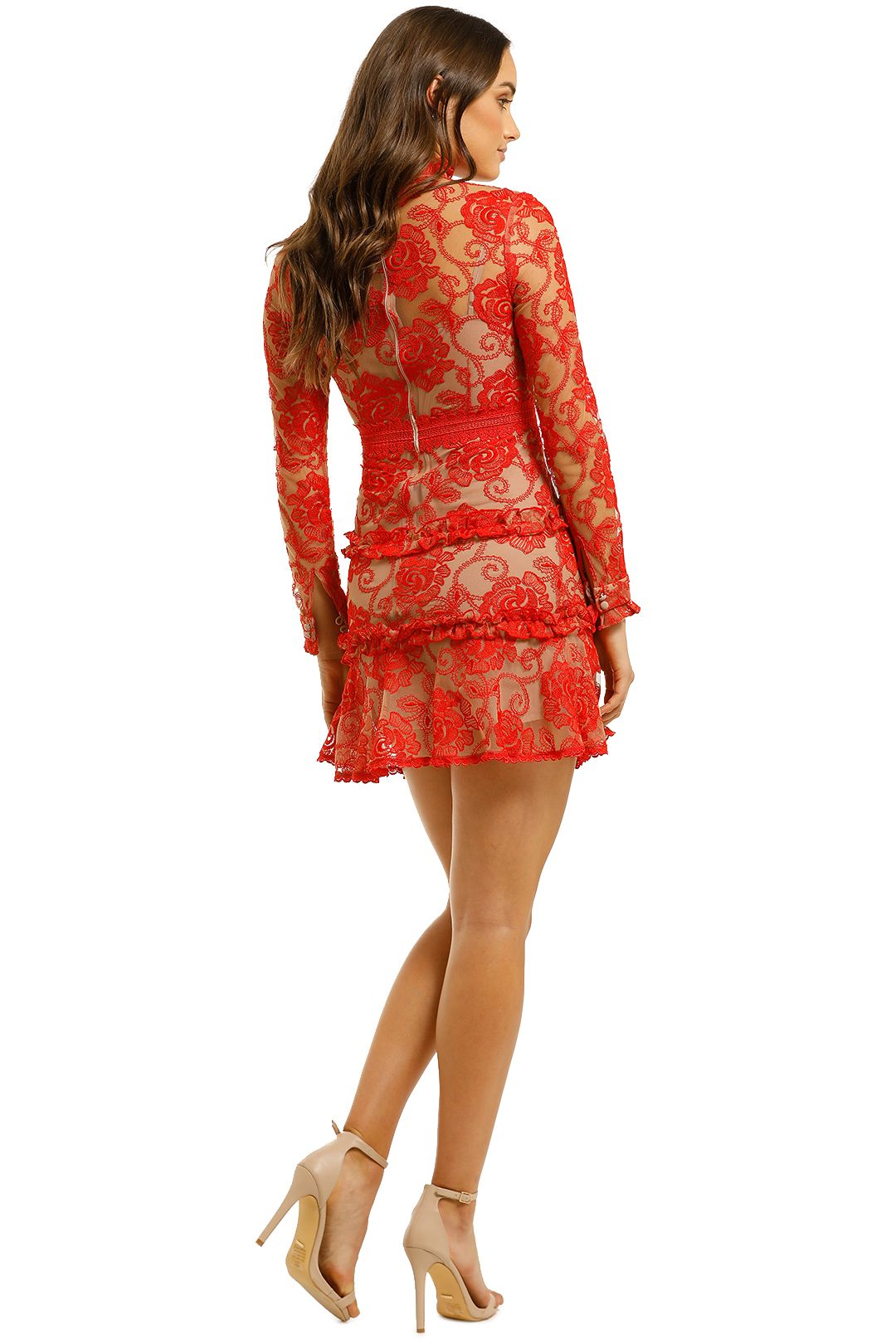 Nicholas-The-Label-Rosie-Lace-High-Neck-Red-Back