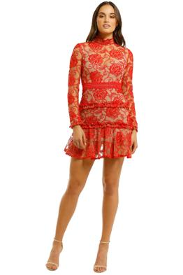 Nicholas-The-Label-Rosie-Lace-High-Neck-Red-Front