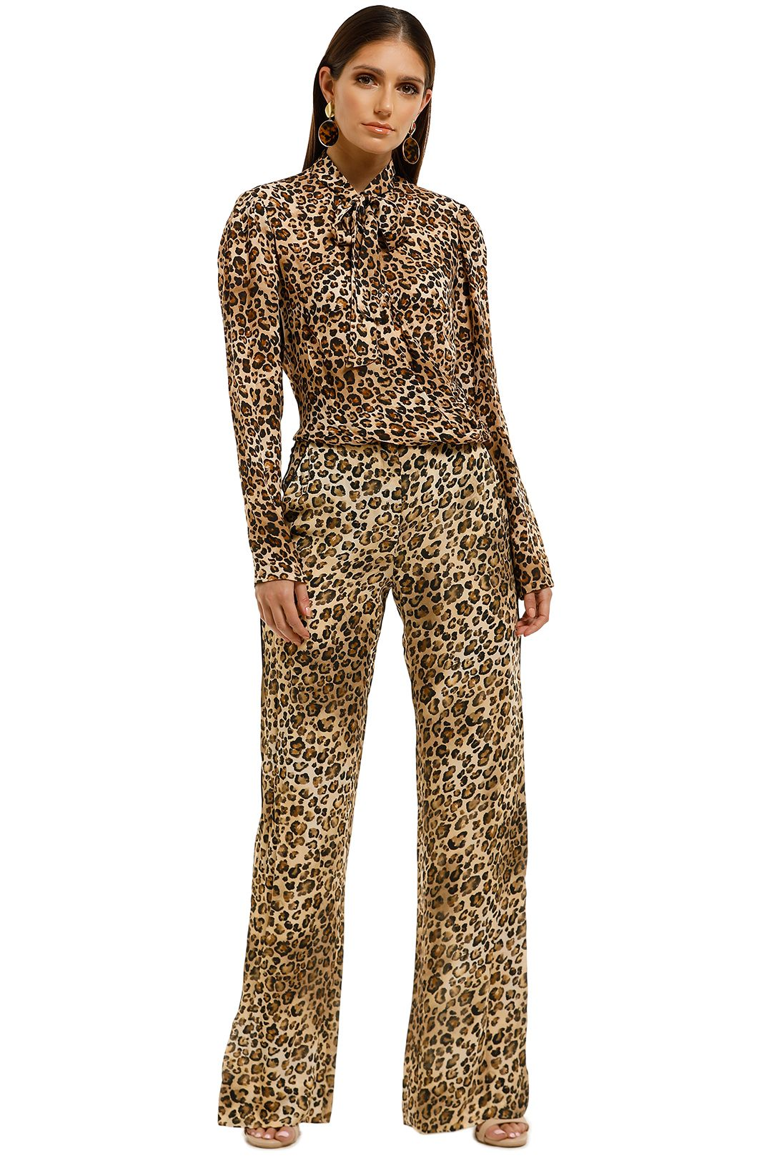 Nicholas-The-Label-Tie-Neck-Top-Leopard-Front