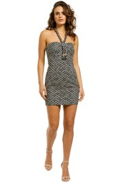 Nicholas-Tiffany-Dress-Black-Ikat-Diamond-Front