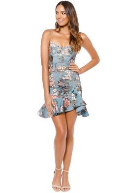 Nicholas - Arielle Floral Frill Dress - Blue Floral - Front