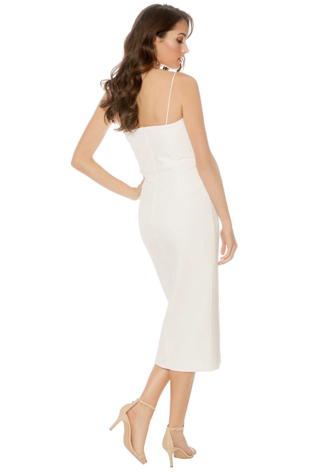 Nicholas - Bandage Quilted Midi Dress - Ivory - Back