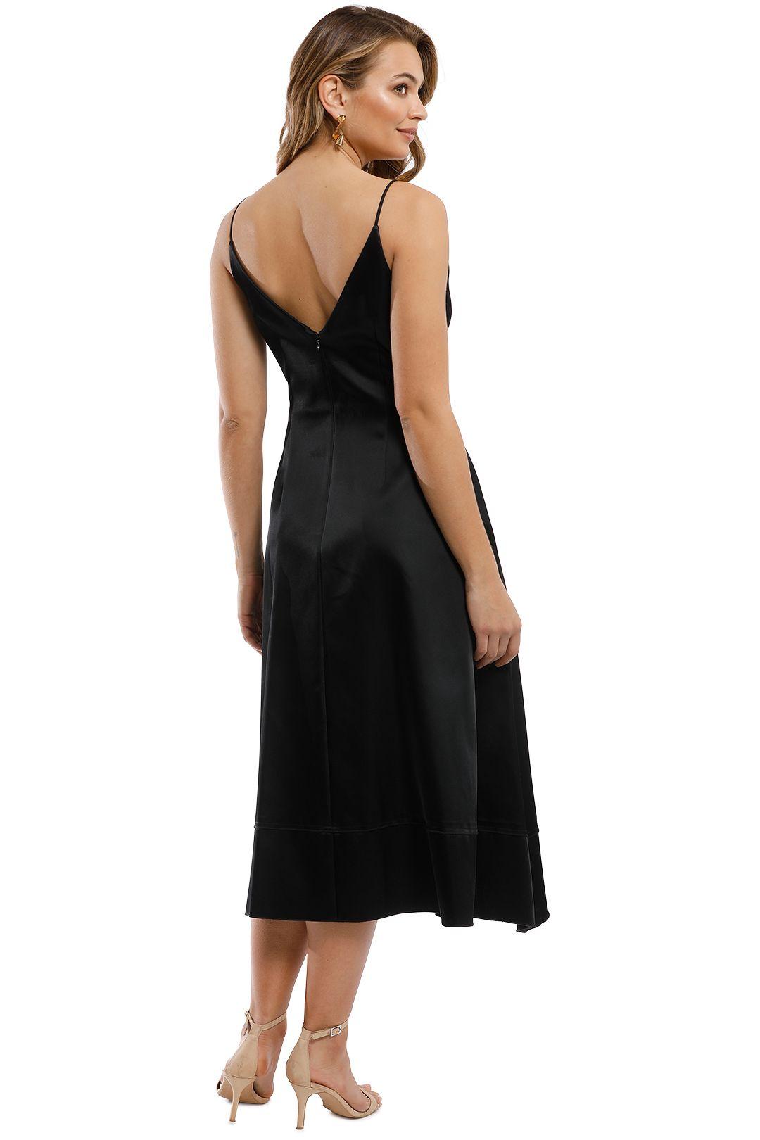 Nicholas - Duchess Satin Ball Dress - Black - Back