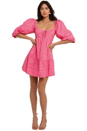 Nicholas Belle Dress Flamingo mini