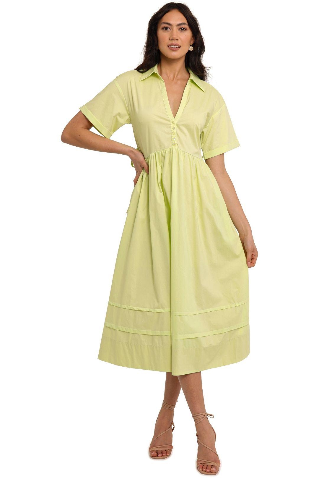 Nicholas Briella Dress Limeade midi
