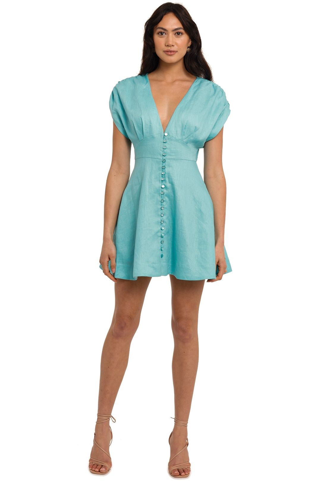 Nicholas Claudia Dress Pool blue