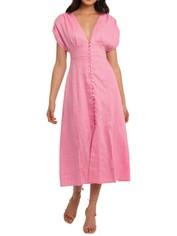 Nicholas Crissy Dress Flamingo pink