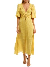 Nicholas Danielle Dress Yellow V Neckline