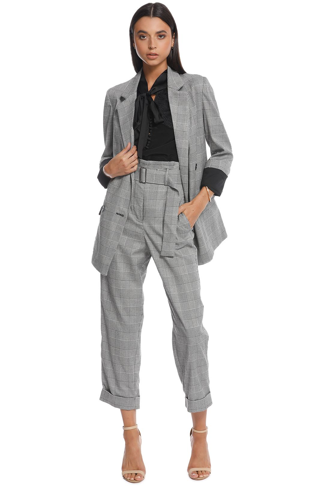 Nicholas the Label - Check Suiting Trouser - Front