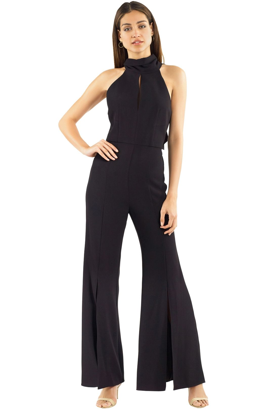 Nicholas the Label - Crepe Sleeveless Jumpsuit - Black - Front