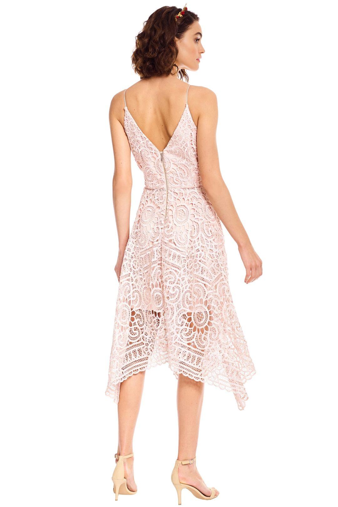 Nicholas - Floral Lace Ball Dress - Antique Pink - Back