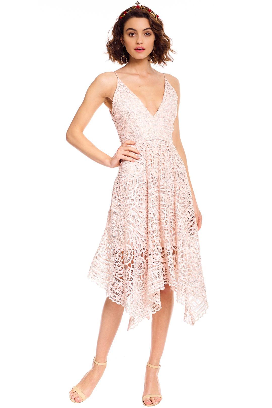 Nicholas - Floral Lace Ball Dress - Antique Pink - Front