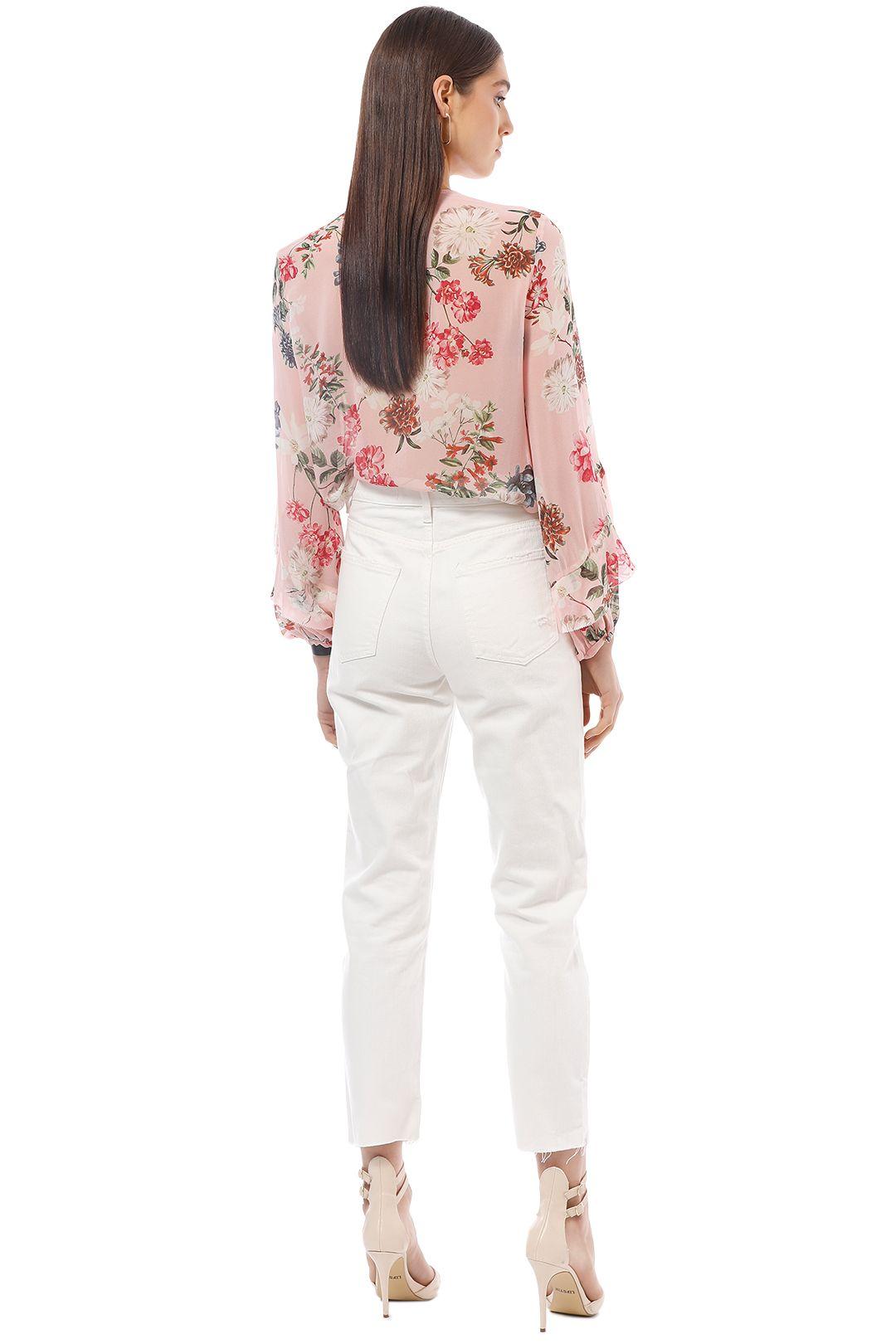 Nicholas the Label - Lilac Floral Yoke Blouse - Pink - Back