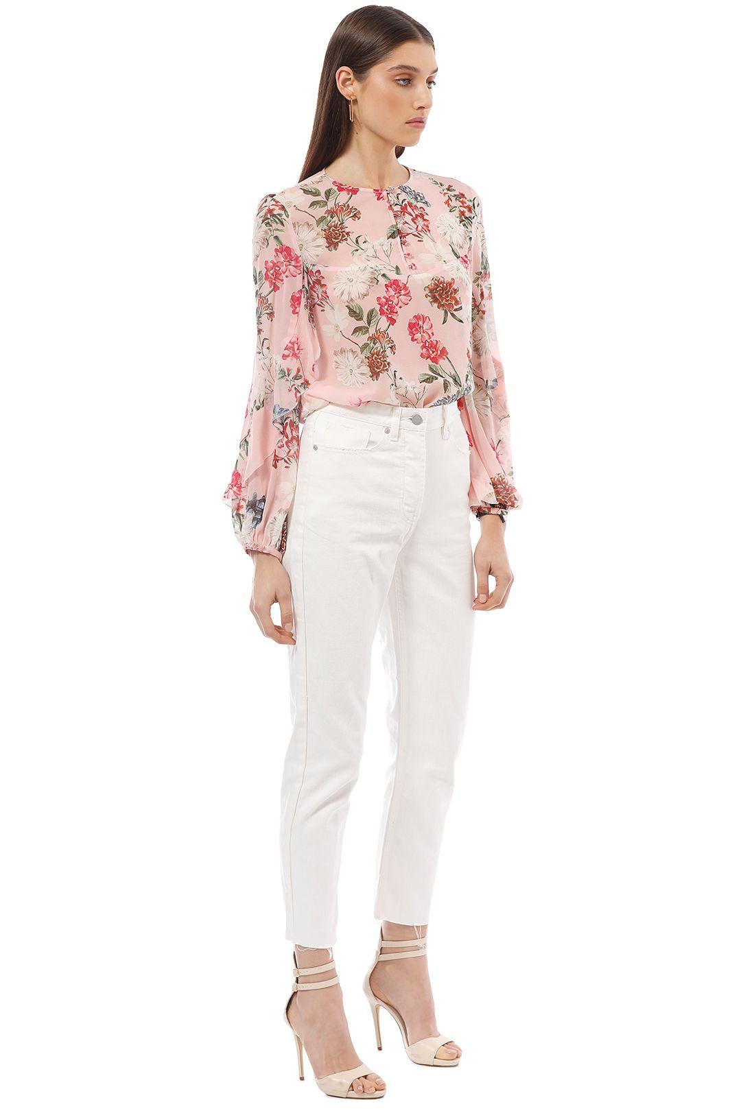 Nicholas the Label - Lilac Floral Yoke Blouse - Pink - Side
