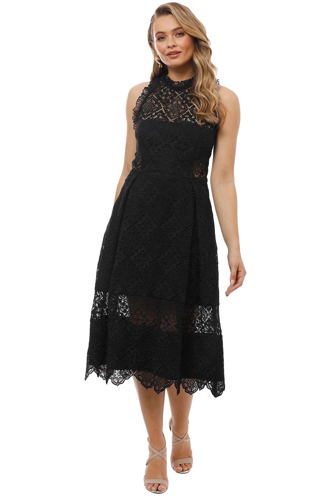 Nicholas the Label - Moroccan Tile Midi Ball Dress - Black - Front