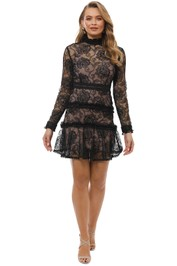 Nicholas the Label - Rosie Lace High Neck - Black - Front