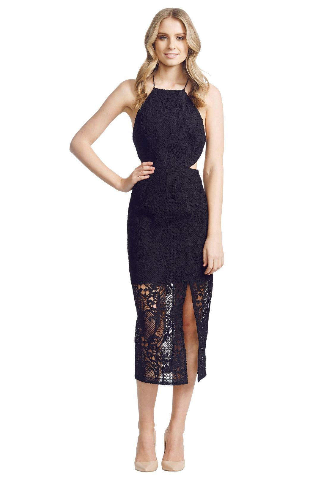 NicholasTheLabel - Fleur Lace Bross Back Dress - Black - Front