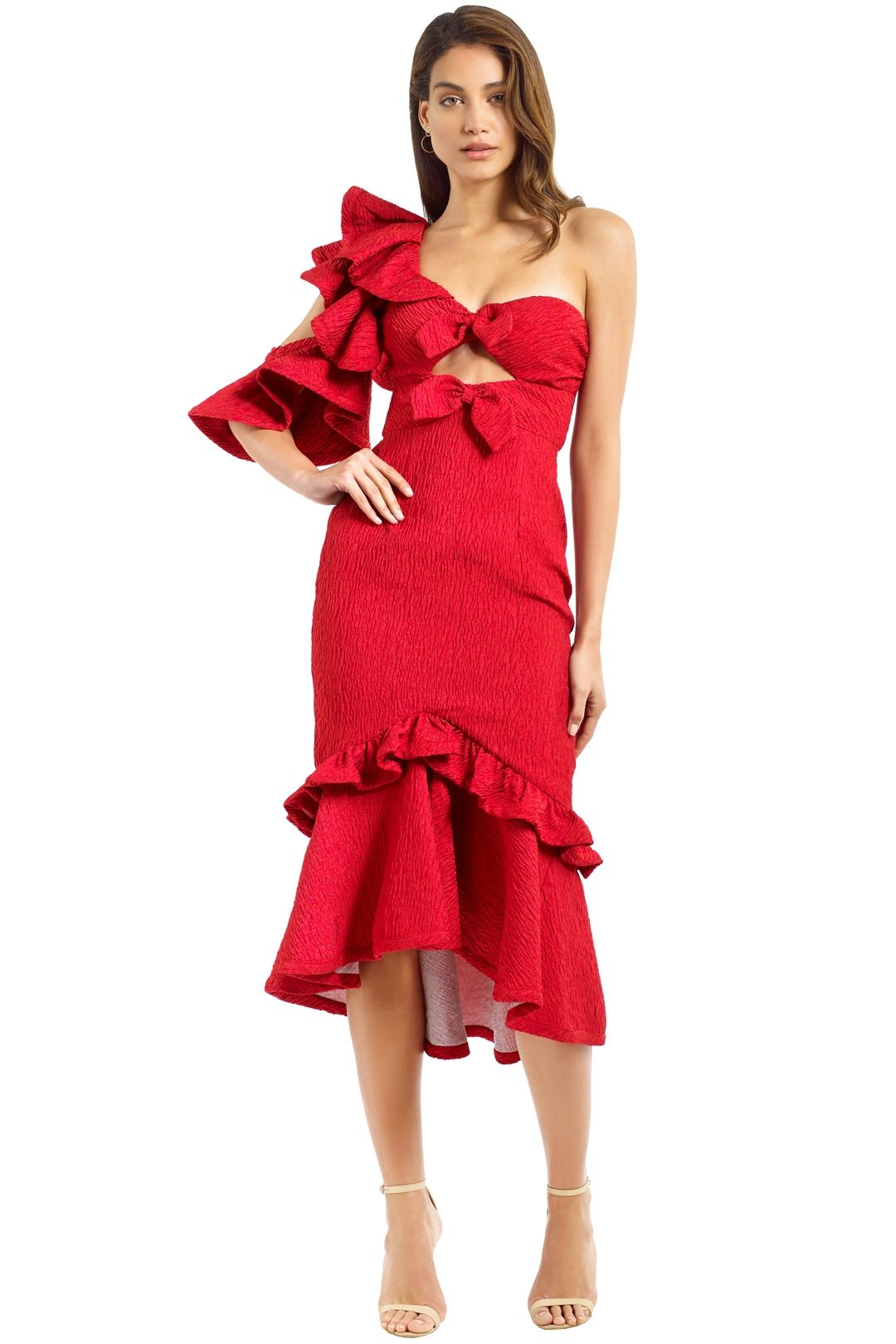 Nicola Finetti - Deidre Dress - Red - Front