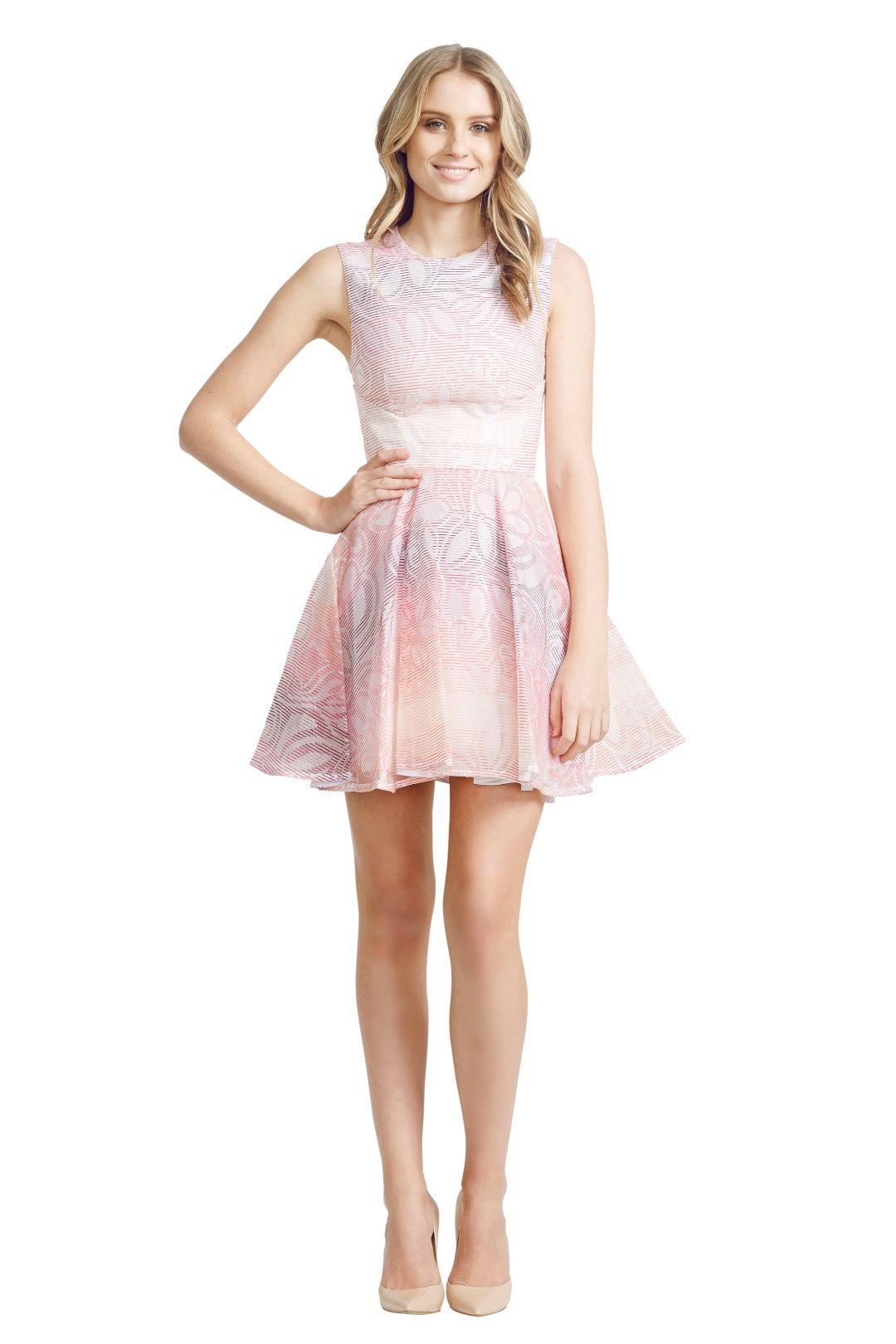 Nicola Finetti - Insert Pleat Dress - Pink - Front