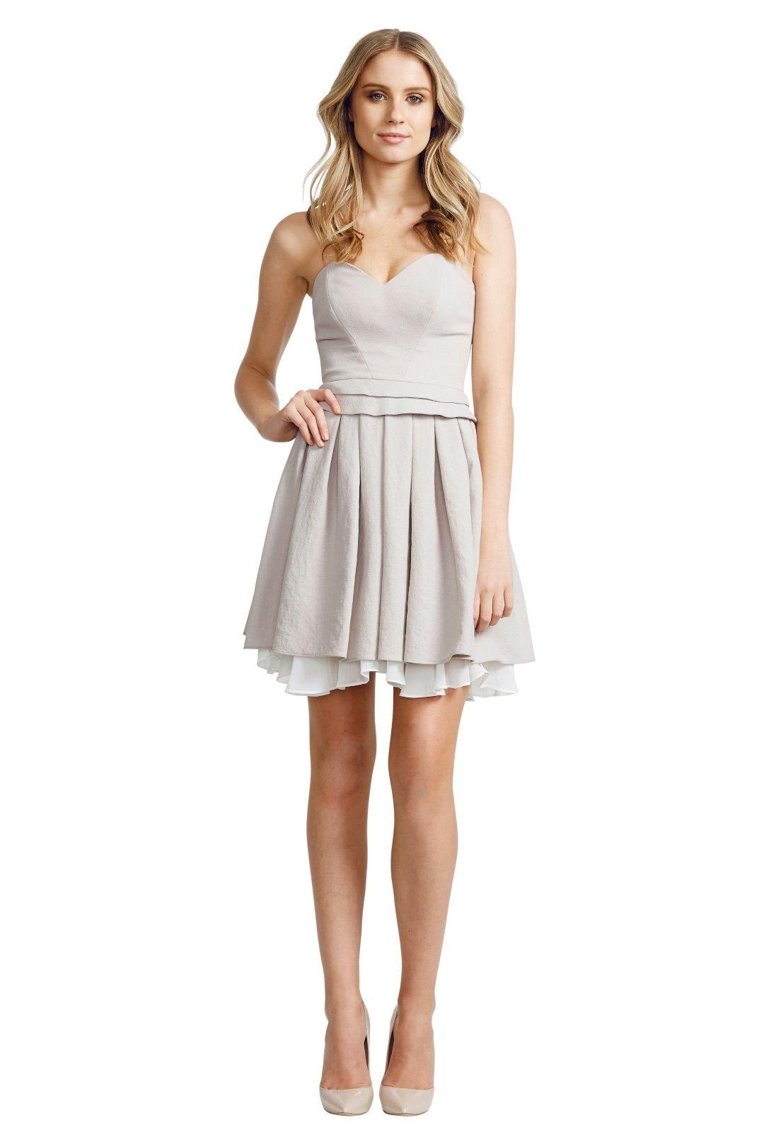 Nicola Finetti - Layer Pleat Dress - Grey - Front