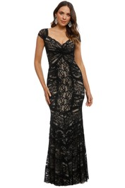 Nicole Miller - Loren Stretch Lace Gown - Black - Front