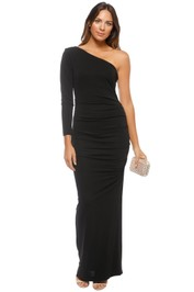 Nicole Miller - One Shoulder Gown - Black - Front
