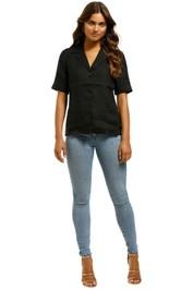 Nobody-Denim-Gallery-Shirt-Linen-Black-Front