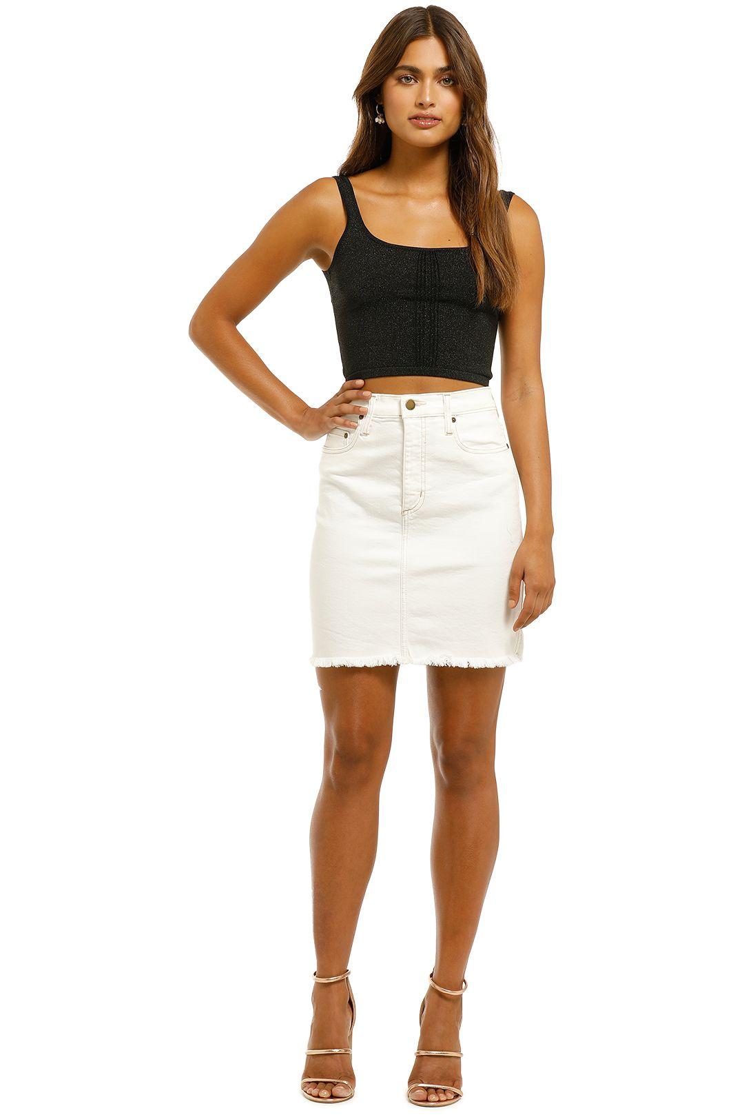 Nobody-Denim-Siren-Skirt-Comfort-White-Front