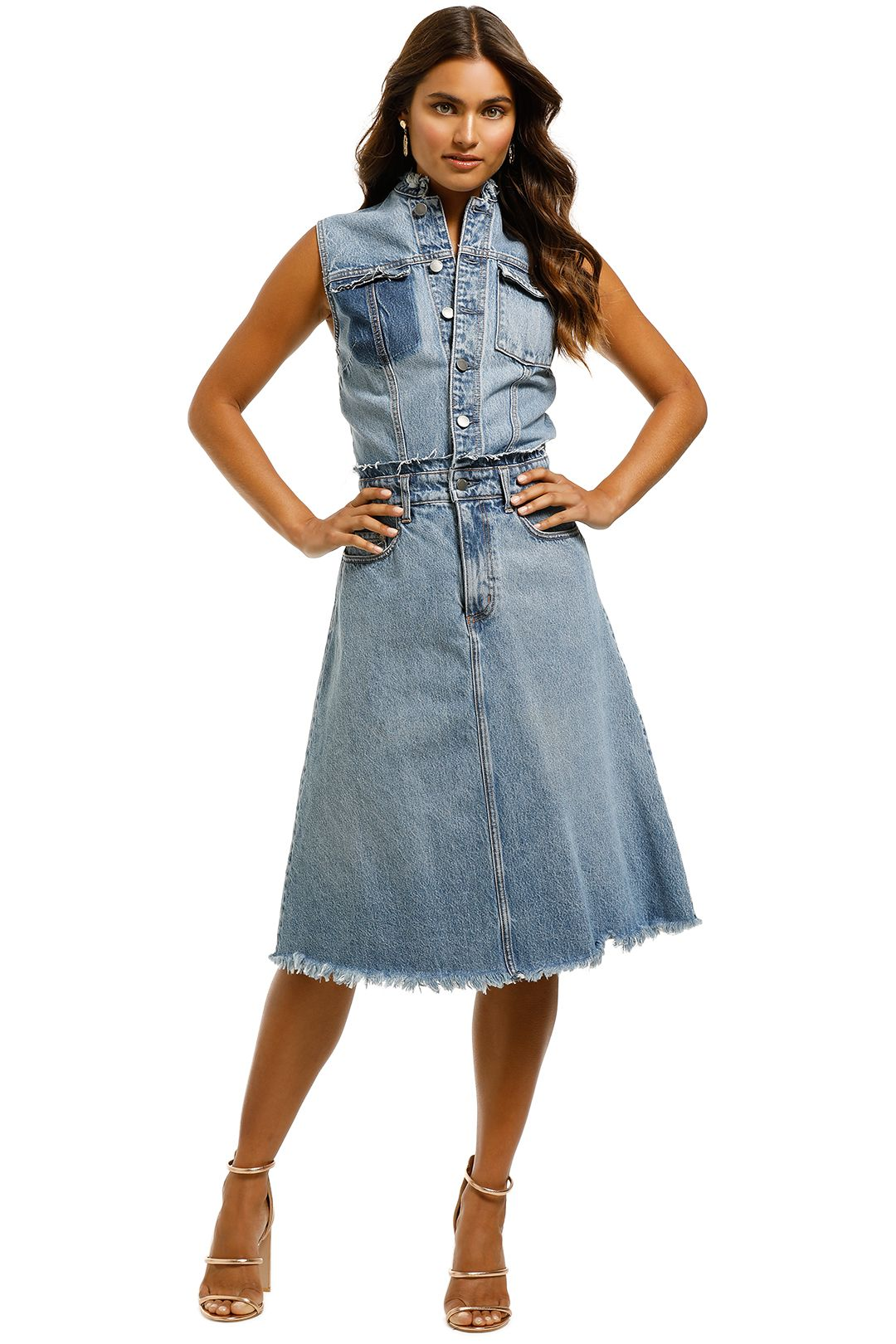 Nobody-Denim-Vita-Dress-Mid-Authentic-Indigo-Front