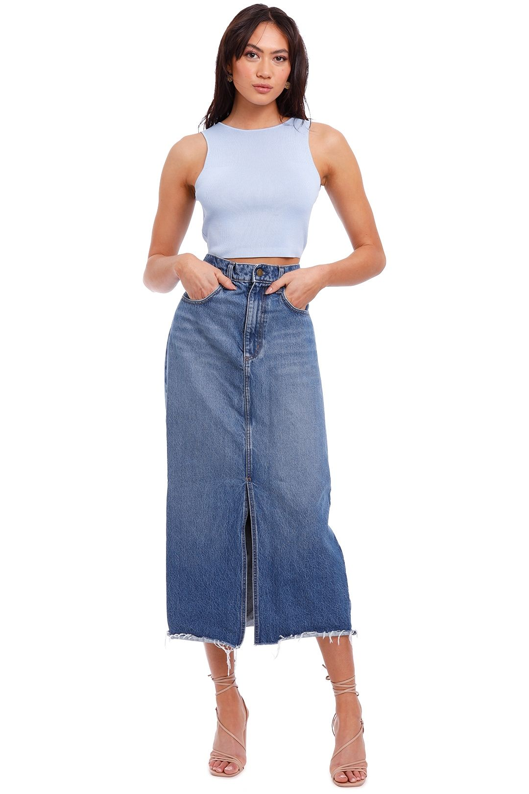 Nobody Denim Avery Skirt Waterfall blue