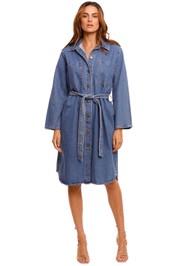 Nobody Denim Day Shirt Dress blue