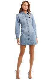 Nobody Denim Gallant Dress Mist mini