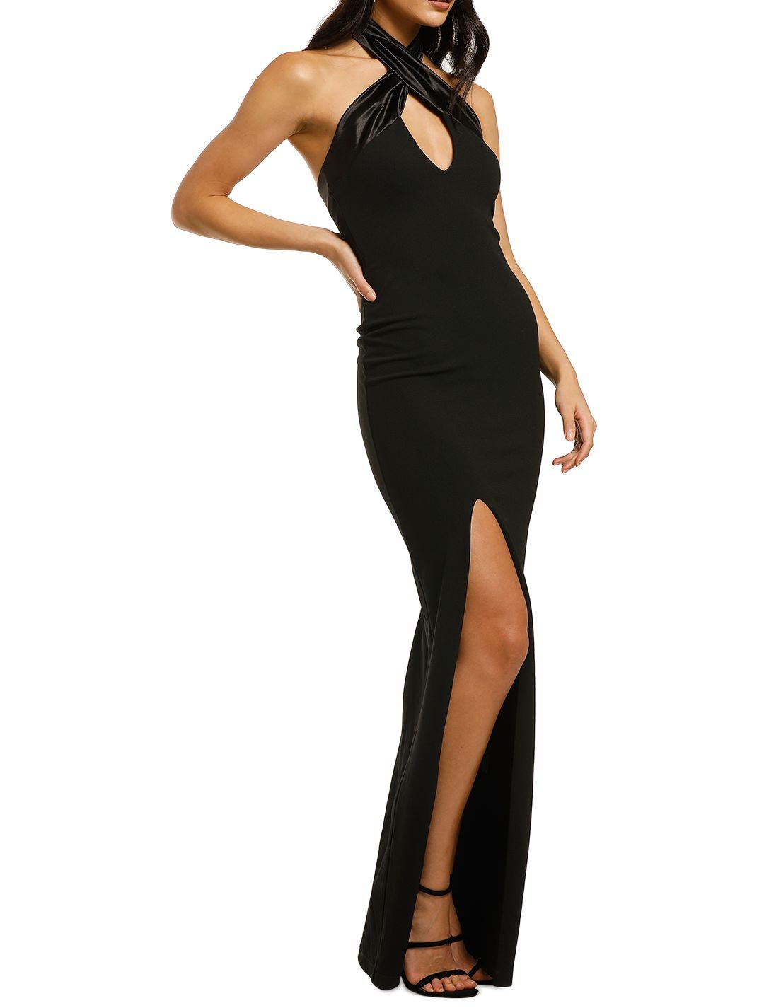 Nookie-Alias-Halter-Gown-Black-Side