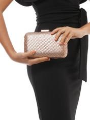 Olga Berg - Alyssa Flat Mesh Pod - Rose Gold - Side Model