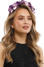 Olga Berg - Amber Satin Headband - Lilac - Product