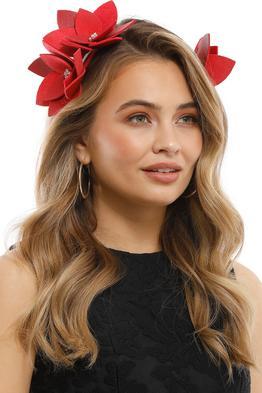Olga Berg - Blakeley Floral Headband - Red - Product