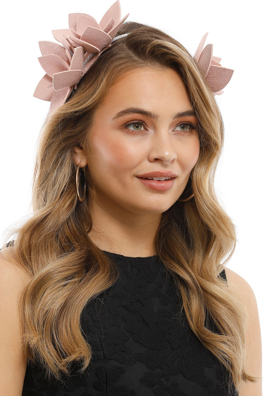 Olga Berg - Blakely Floral Headband - Blush - Product