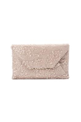Olga Berg - Chloe Sequin Fold Over Clutch - Champagne - Product