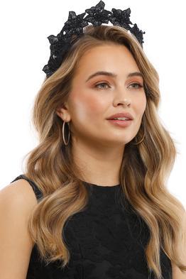 Olga Berg - Clare Floral Headband - Black - Product