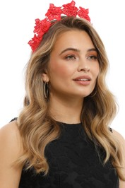 Olga Berg - Clare Floral Headband - Red - Product