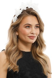 Olga Berg - Clare Floral Headband - White - Product