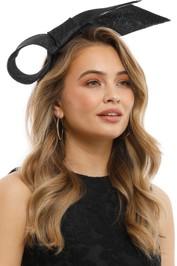Olga Berg - Danica Sinamay Bow Fascinator - Black - Product